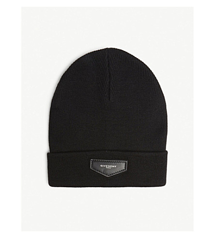 52818671768 GIVENCHY Logo patch wool-blend beanie (Black