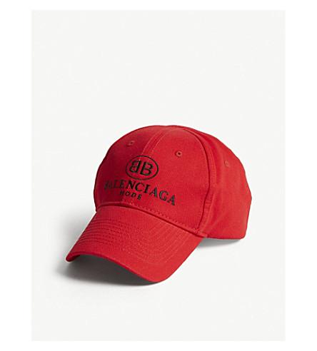 ... BALENCIAGA Mode cotton strapback cap (Red+black. PreviousNext 30a1f20d172d