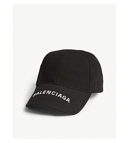 316f7142ab0 BALENCIAGA Logo cotton baseball cap (Black