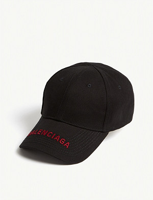BALENCIAGA Embroidered logo cotton baseball cap