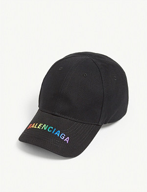 BALENCIAGA Tattoo logo embroidered baseball cap