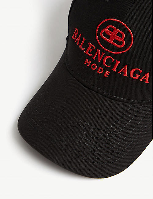 BALENCIAGA Embroidered logo mode cotton baseball cap
