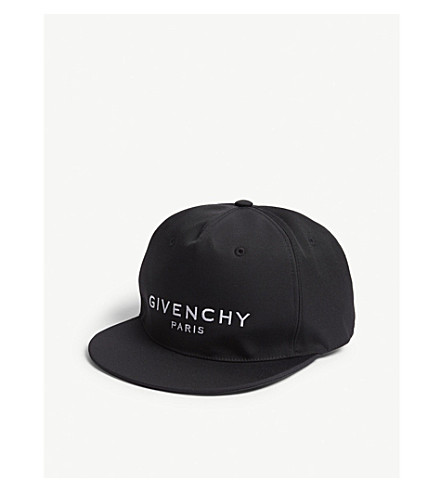 GIVENCHY Logo-embroidered woven strapback cap (Black ead926992ab