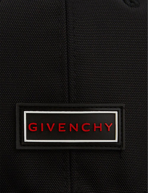 GIVENCHY Logo-appliqué cotton snapback cap
