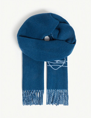 f6d26b70e VIVIENNE WESTWOOD - Embroidered wool scarf | Selfridges.com