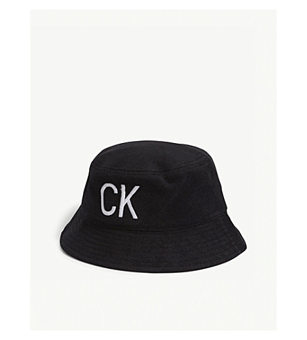 bd6efd5cf80 ... CALVIN KLEIN J Towel cotton-blend bucket hat (Black. PreviousNext