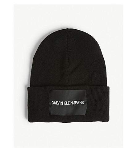 CALVIN KLEIN - Logo wool-blend beanie  30d5e8d2c23