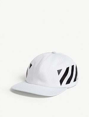 OFF-WHITE C/O VIRGIL ABLOH Logo-print cotton snapback cap