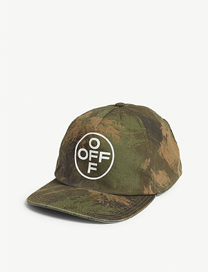 OFF-WHITE C/O VIRGIL ABLOH Paintbrush Camouflage logo cotton cap