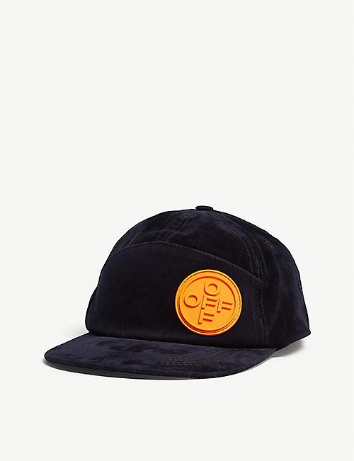 e76ce38a05c0 OFF-WHITE C O VIRGIL ABLOH Logo-patch velour baseball cap