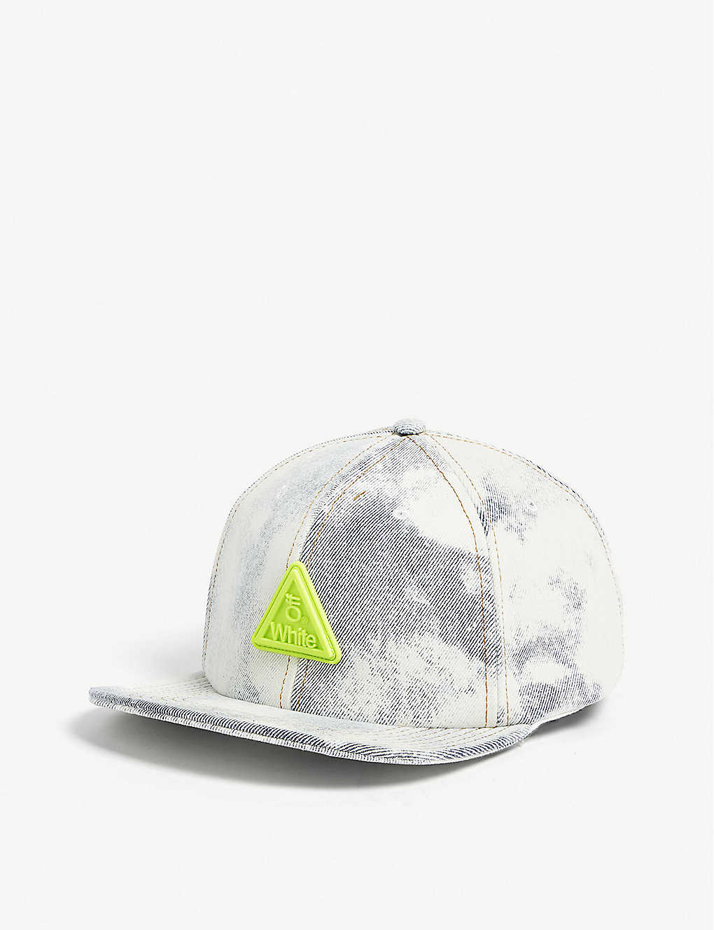 ea4ed4c7a35b1d OFF-WHITE C/O VIRGIL ABLOH - Neon logo bleached denim snapback cap ...