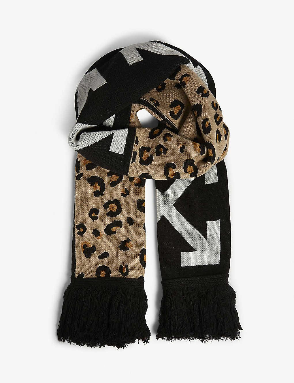 8d0848c3023f3 OFF-WHITE C/O VIRGIL ABLOH - Arrows leopard scarf | Selfridges.com