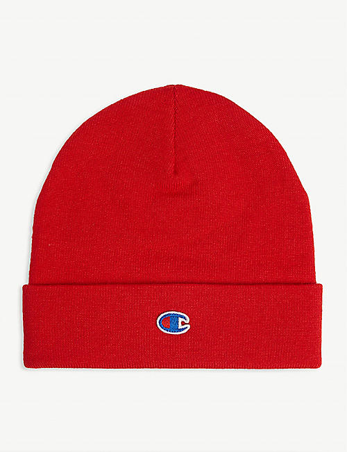 CHAMPION Logo wool-blend beanie hat