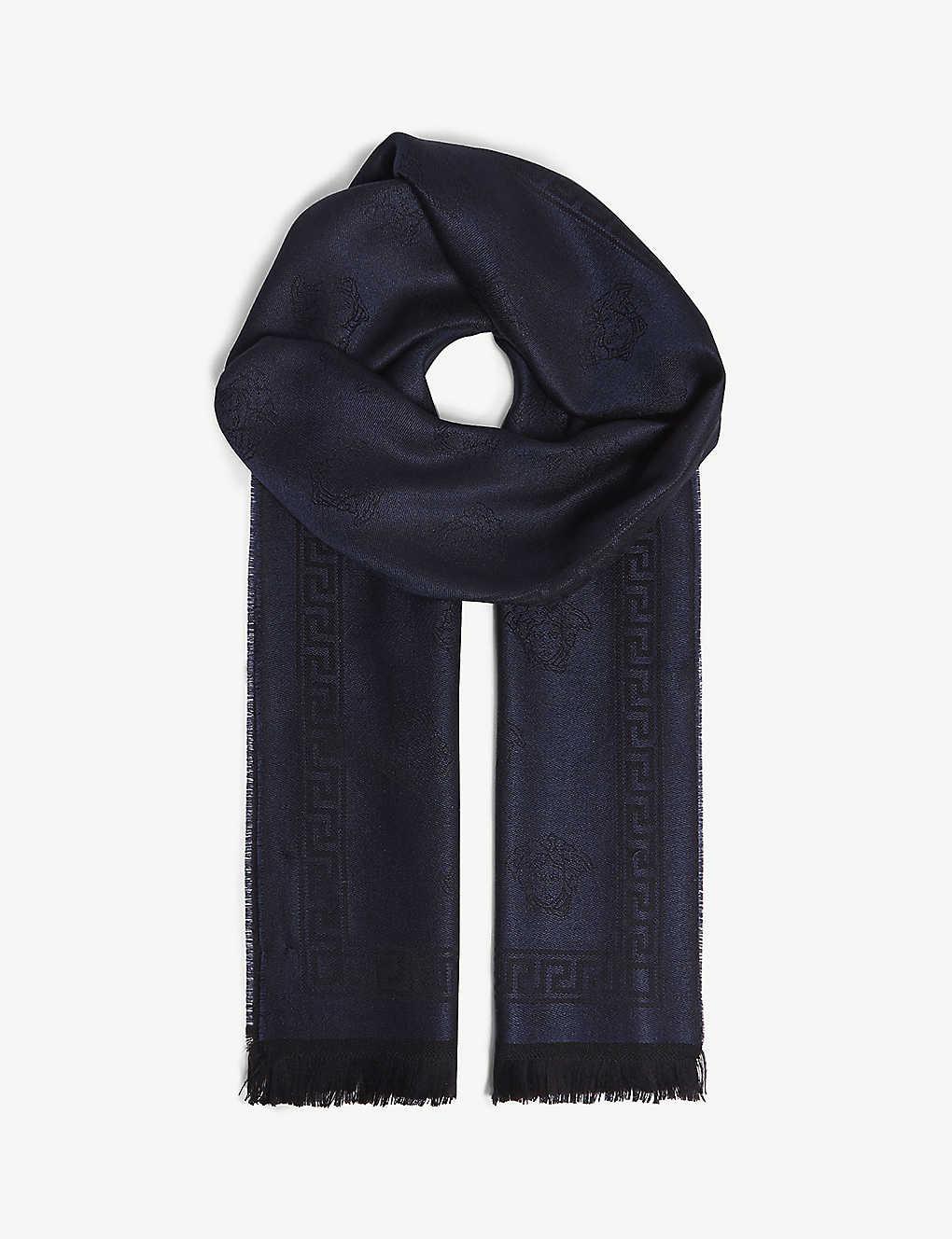 bd9852a6b7 VERSACE - Medusa wool scarf