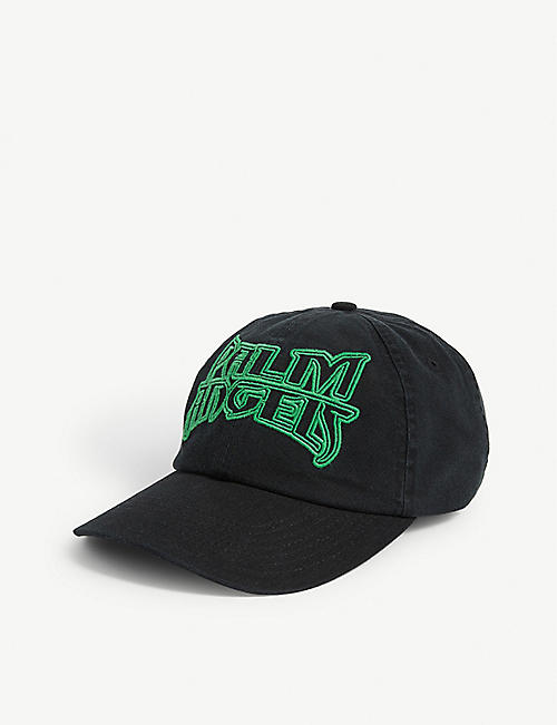 PALM ANGELS Metal logo cotton baseball cap