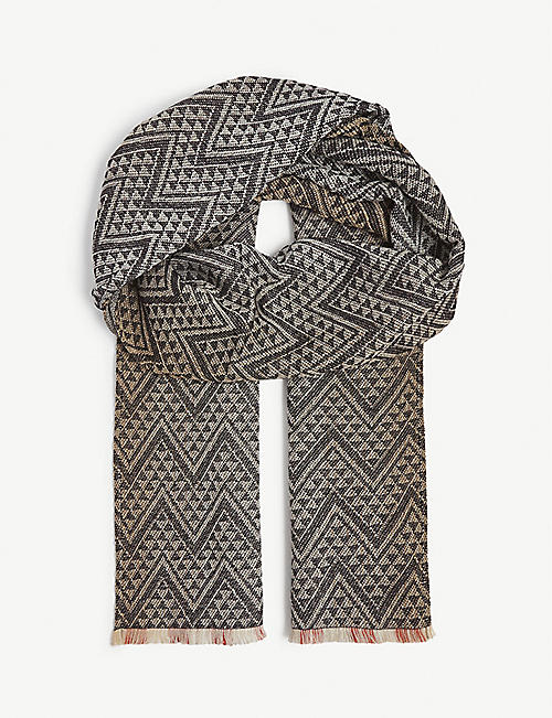 MISSONI Reversible printed wool scarf