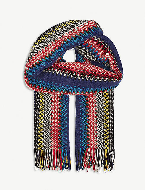 MISSONI Zig-zag stripe knitted scarf