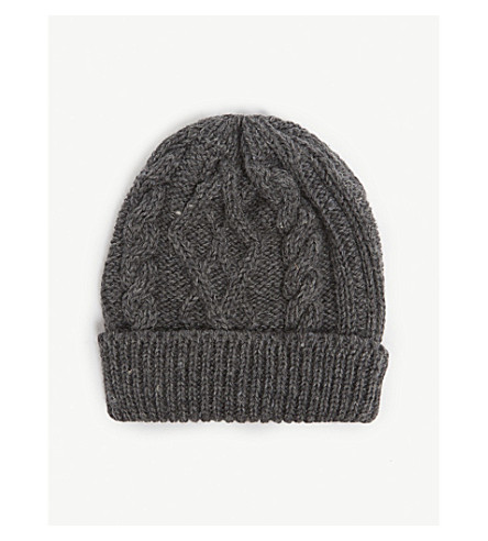 4ce5908debb THOM BROWNE Aran cable-knit wool beanie (Med+grey