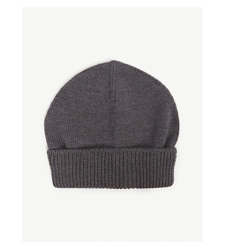 fc5698093b THOM BROWNE - Buttoned knitted wool beanie