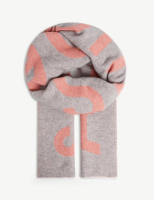 ACNE STUDIOS As toronty logo scarf