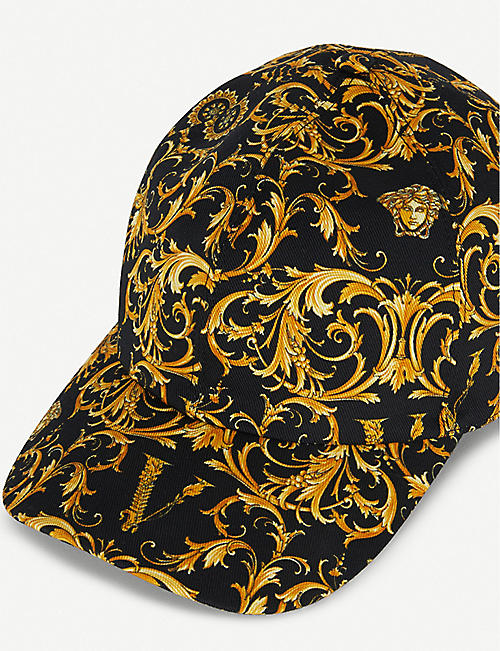VERSACE Baroque-print cotton-blend cap