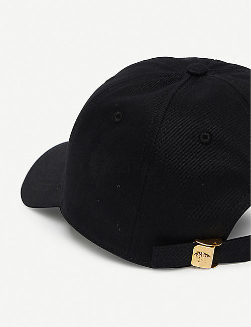 VERSACE Logo-embroidered cotton baseball cap