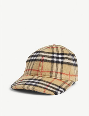 BURBERRY Check wool cap
