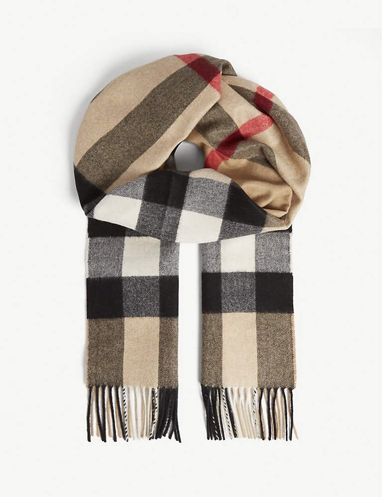 nice cheap best sale store Checked cashmere scarf