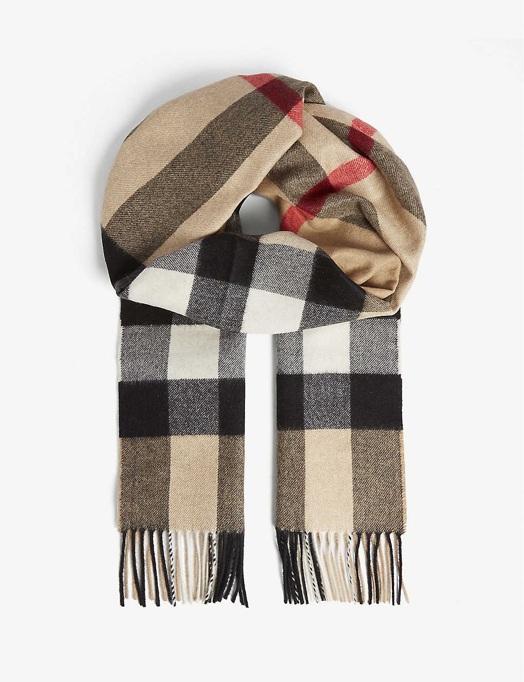 BURBERRY: Checked cashmere scarf