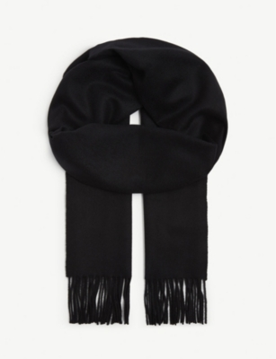 Large Plain Cashmere Scarf by Johnstons