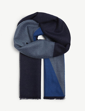 JOHNSTONS Colour block cashmere scarf