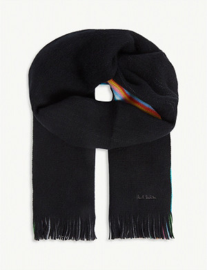 PAUL SMITH ACCESSORIES Stripe Edge wool scarf