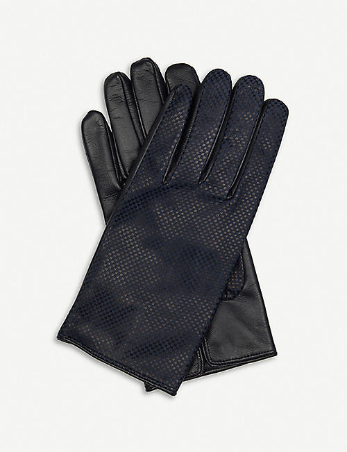 PAUL SMITH ACCESSORIES Textured leather gloves