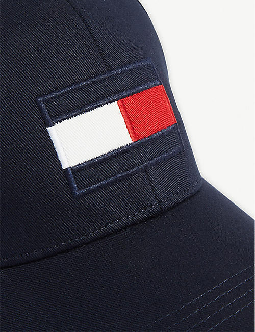 TOMMY HILFIGER Logo flag cotton cap