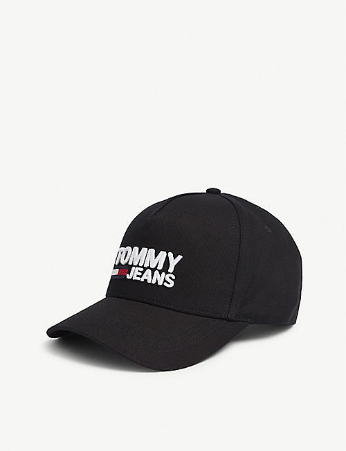 TOMMY HILFIGER Logo-printed cotton baseball cap
