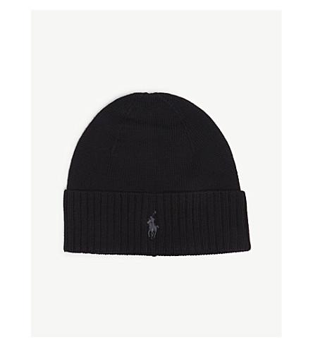 ... POLO RALPH LAUREN Embroidered logo wool beanie (Black. PreviousNext 05431851b16