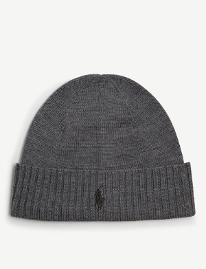 POLO RALPH LAUREN Embroidered logo wool beanie