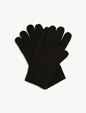 POLO RALPH LAUREN Embroidered logo Merino wool gloves
