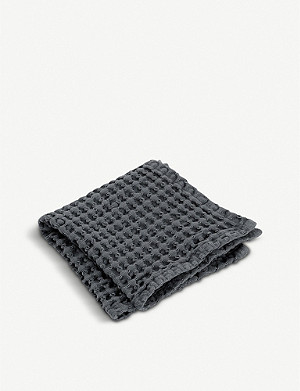BLOMUS Caro waffle-knit cotton guest towels set of three 30x30cm