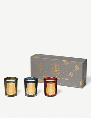 CIRE TRUDON Christmas candles set of 3