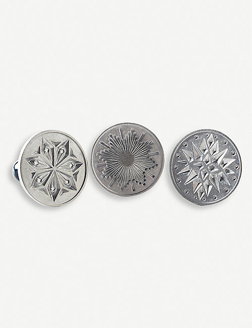 NORDICWARE Starry Night cast-aluminium and wood biscuit stamps