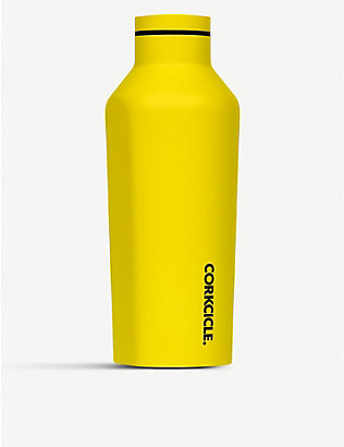 CORKCICLE: Neon stainless steel canteen 9oz