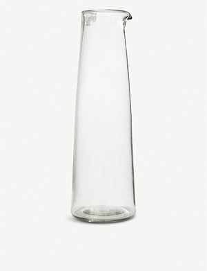 GARDEN TRADING Meze large glass wine carafe 1.4L