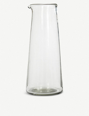 GARDEN TRADING Meze small glass wine carafe 750ml