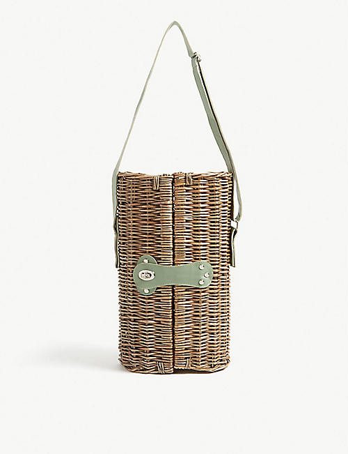 SOHO HOME Country House wicker wine carrier