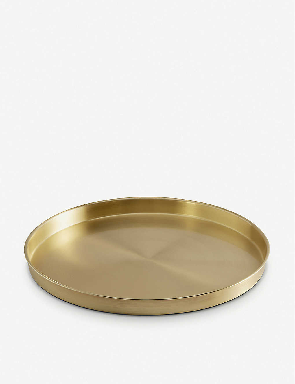 VONSHEF: Brushed gold drinks tray 33cm