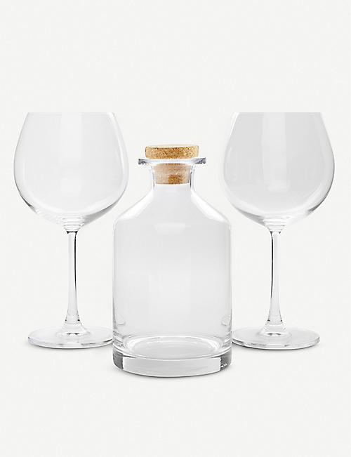 VONSHEF Gin decanter two balloon glasses