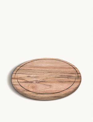 TRAMONTINA Churrasco round wooden chopping board 28cm