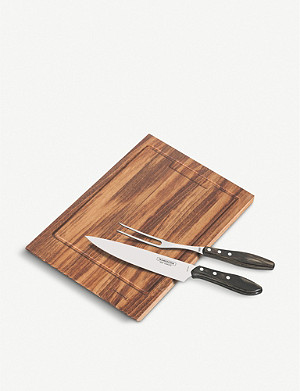 TRAMONTINA Carving set with cutting board