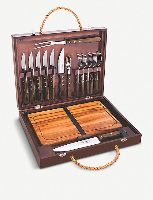 TRAMONTINA 17-piece barbecue carving tools cutlery set